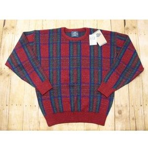 Mens L Vintage Jantzen Plaid Sweater Elastic waist